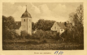 Nieistniejący kościół ewangelicki w Jedwabnie