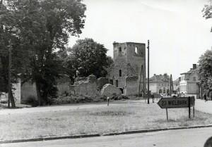 Ruiny kościoła ewangelickiego Jedwabno, lata 60. ub wieku