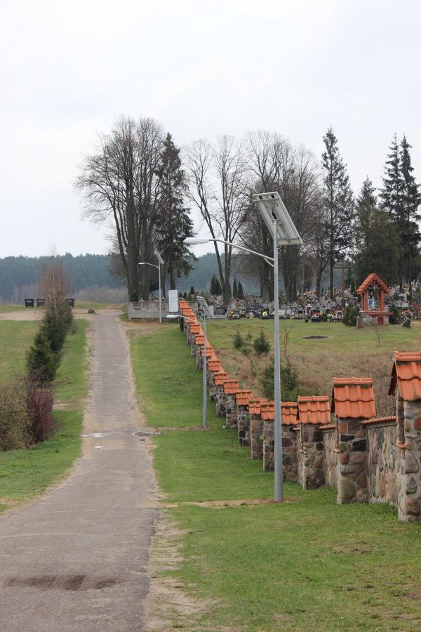 Oświetlenie Uliczne Przy Drodze Na Cmentarz Jedwabnopl