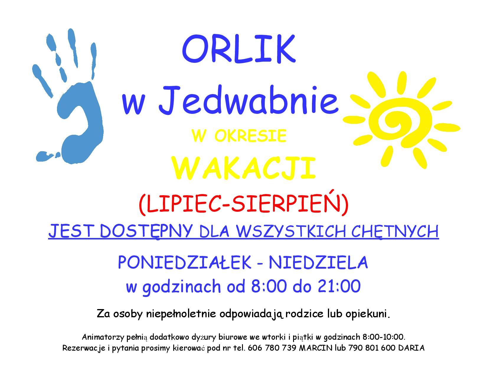 godziny otwarcia ORLIKA w WAKACJE-page-001