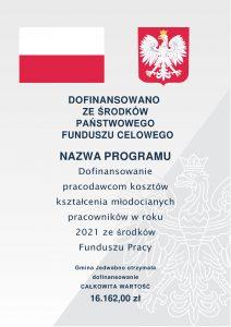 plakat Fundusz Pracy